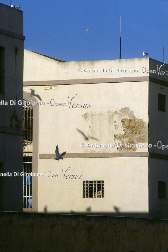 Casa di reclusione di Porto Azzurro, isola d' Elba..House of imprisonment of Porto Azzurro, Elba Island.  .Finestre delle celle dei detenuti. Windows of the cells of prisoners....