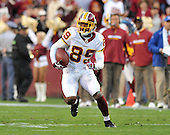 Landover, MD - October 19, 2008 -- Washington Redskins wide receiver Santana Moss (89) carries the ball after making a catch in the third quarter against the Cleveland Browns at FedEx Field in Landover, Maryland on Sunday, October 19, 2008.  The Redskins won the game 14 - 11..Credit: Ron Sachs / CNP