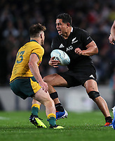 Anton Lienert-Brown in action during the Bledisloe Cup rugby match between the New Zealand All Blacks and Australia Wallabies at Eden Park in Auckland, New Zealand on Saturday, 17 August 2019. Photo: Simon Watts / lintottphoto.co.nz