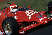 Bobby Rahal drives in the 1983 IndyCar race at Mid-Ohio Sports Car Course near Lexington, Ohio.