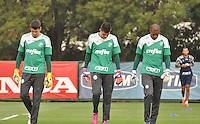 SÃO PAULO.SP. 09.04.2015 - PALMEIRAS TREINO -  Goleiros do Palmeiras durante o treino na Academia de Futebol zona oeste na nesta quinta feira 09. ( Foto: Bruno Ulivieri / Brazil Photo Press )
