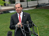 United States Secretary of Health and Human Services (HHS) Alex Azar speaks to the media at the White House in Washington, DC, May 8, 2019. Photo Credit: Chris Kleponis/CNP/AdMedia