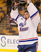 Tyler Wall (UML - 33) The University of Massachusetts-Lowell River Hawks defeated the Boston College Eagles 4-3 to win the 2017 Hockey East tournament at TD Garden on Saturday, March 18, 2017, in Boston, Massachusetts.