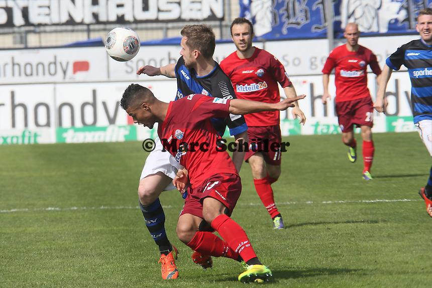 Marc-Andre Kruska (FSV) gegen Elias Kachunga (Paderborn) - FSV Frankfurt vs. SC Paderborn 07, Frankfurter Volksbank Stadion