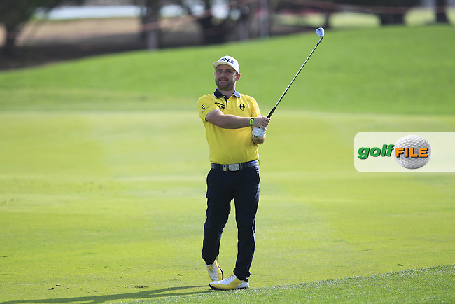 Andy Sullivan (ENG) on the 5th fairway during Round 4 of the Abu Dhabi HSBC Championship on Sunday 22nd January 2017.<br /> Picture:  Thos Caffrey / Golffile<br /> <br /> All photo usage must carry mandatory copyright credit     (&copy; Golffile | Thos Caffrey)