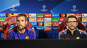 September 11th 2017, Trigoria, Rome, Italy, AS Roma press conferenc ebefore their Champions league match against Atletico Madrid on Sptember 12th in Rome; Coach Eusebio Di Francesco and Kevin Strootman