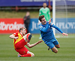 Partick's Niall Keown sent off for a bad challenge on Aberdeen's Kenny McLean