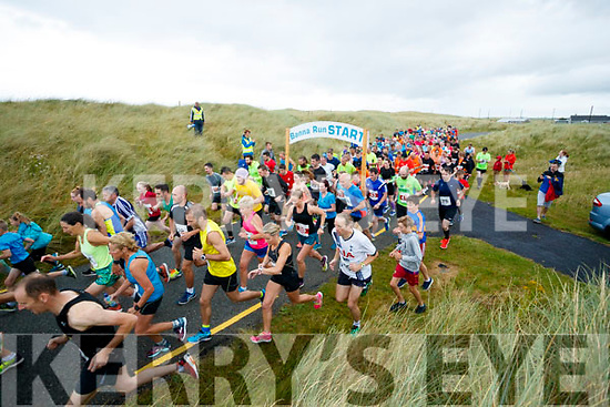 The start of the Banna 10K run on Sunday morning.