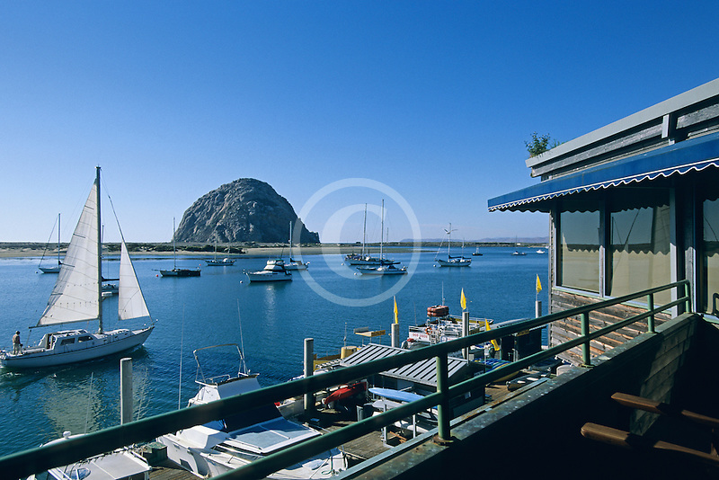 California, Morro Bay, Waterfront restaurant, Window on the Water