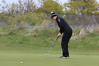 Ricardo Gouveia (POR) on the 5th green during Round 1 of the Betfred British Masters 2019 at Hillside Golf Club, Southport, Lancashire, England. 09/05/19<br /> <br /> Picture: Thos Caffrey / Golffile<br /> <br /> All photos usage must carry mandatory copyright credit (© Golffile | Thos Caffrey)