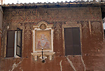 Detail of Palazzo Pio (17th century)  in the Parione district of Rome.
