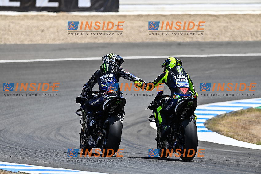 Maverick Vinales Yamaha , Valentino Rossi Yamaha <br /> Jerez 26/07/2020 Moto Gp Andalucia 2020 / Spain<br /> Photo Yamaha Press Office / Insidefoto <br /> EDITORIAL USE ONLY