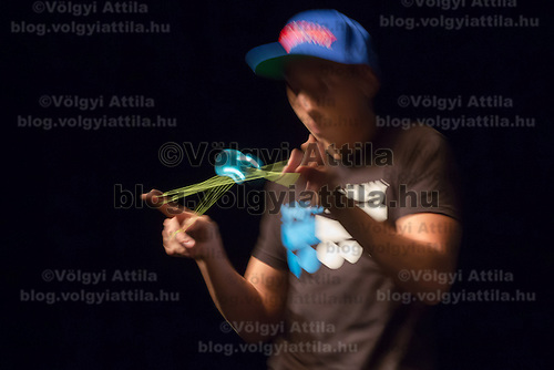 Kojo Boison of Germany competes during the Yoyo European Championships in Budapest, Hungary on February 24, 2013. ATTILA VOLGYI