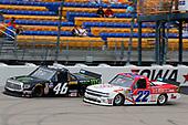 #46: Riley Herbst, Kyle Busch Motorsports, Toyota Tundra Monster Energy/Advance Auto Parts and #22: Austin Wayne Self, AM Racing, Chevrolet Silverado GO TEXAN/ ICEBOX Helmet Coolers