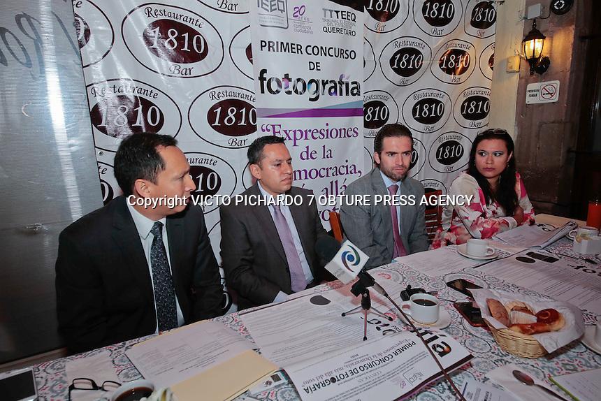 Querétaro, Qro. Gerardo Romero Altamirano, Consejero Presidente del IEEQ presentó en rueda de prensa las bases para la participación en el concurso de fotografía Expresiones de la Democracia