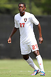 02 September 2012: NC State's Philip Carmon. The North Carolina State University Wolfpack defeated the Santa Clara University Broncos 2-1 at Koskinen Stadium in Durham, North Carolina in a 2012 NCAA Division I Men's Soccer game.