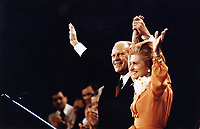President Gerald Ford and First Lady Betty Ford at the Republican National Convention in Kansas City, Missouri.  19 August 1976
