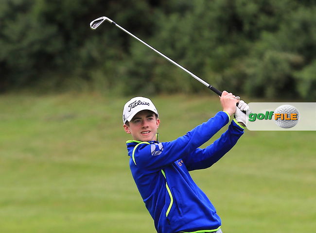 Conor Meade (East Clare) on the 8th fairway during Round 3 of the 2016 Connacht U18 Boys Open, played at Galway Golf Club, Galway, Galway, Ireland. 07/07/2016. <br /> Picture: Thos Caffrey | Golffile<br /> <br /> All photos usage must carry mandatory copyright credit   (&copy; Golffile | Thos Caffrey)
