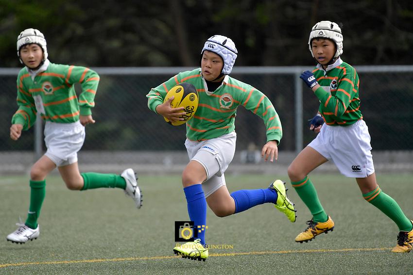 U12 Rugby - Sakai Rugby School ( Japan ) v Mark's School at Wellington College, Wellington, New Zealand on Friday 24 March 2017.<br /> Photo by Masanori Udagawa<br /> www.photowellington.photoshelter.com.