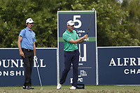 Pedro Figueiredo (POR) and Stuart Manley (WAL) on the 5th tee during the 2nd round of the Alfred Dunhill Championship, Leopard Creek Golf Club, Malelane, South Africa. 14/12/2018<br /> Picture: Golffile | Tyrone Winfield<br /> <br /> <br /> All photo usage must carry mandatory copyright credit (&copy; Golffile | Tyrone Winfield)