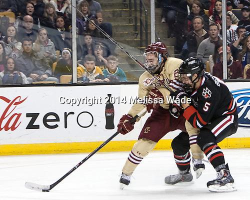 Austin Cangelosi (BC - 26), Matt Benning (NU - 5) - The Boston College Eagles defeated the Northeastern University Huskies 4-1 (EN) on Monday, February 10, 2014, in the 2014 Beanpot Championship game at TD Garden in Boston, Massachusetts.