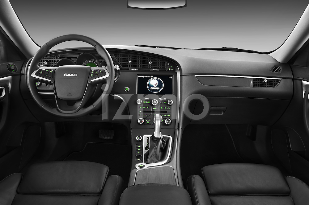 Straight dashboard view of a 2011 Saab 95 Vector 4 Door Sedan.
