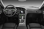 Straight dashboard view of a 2011 Saab 95 Vector 4 Door Sedan.