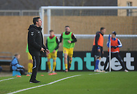 Fleetwood Town manager Joey Barton shouts instructions to his team from the dug-out <br /> <br /> Photographer Kevin Barnes/CameraSport<br /> <br /> The EFL Sky Bet League One - Bristol Rovers v Fleetwood Town - Saturday 22nd December 2018 - Memorial Stadium - Bristol<br /> <br /> World Copyright &copy; 2018 CameraSport. All rights reserved. 43 Linden Ave. Countesthorpe. Leicester. England. LE8 5PG - Tel: +44 (0) 116 277 4147 - admin@camerasport.com - www.camerasport.com