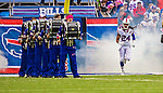 19 October 2014: Buffalo Bills cornerback Stephon Gilmore is introduced prior to facing the Minnesota Vikings at Ralph Wilson Stadium in Orchard Park, NY. The Bills defeated the Vikings 17-16 in a dramatic, last minute, comeback touchdown drive. Mandatory Credit: Ed Wolfstein Photo *** RAW (NEF) Image File Available ***
