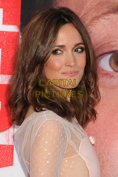 Rose Byrne<br /> &quot;The Internship&quot; Los Angeles Premiere held at the Regency Village Theatre, Westwood, California, USA.<br /> May 29th, 2013<br /> headshot portrait white cream sheer pink side   <br /> CAP/ADM/BP<br /> &copy;Byron Purvis/AdMedia/Capital Pictures