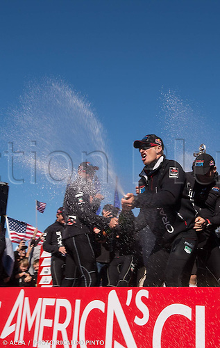 25.09.2013. San Francisco Bay, California, USA.  The 34th Americas  Cup Final Match Day 15 Oracle team USA vs Emirates team New Zealand Americas Cup Award Ceremony  Oracle team USA captain Spithill James
