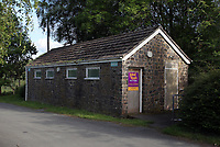 COPY BY TOM BEDFORD<br />Pictured: The toilets for sale<br />Re: A toilet is offered for sale by auctioneers Paul Fosh next to Clywedog Reservoir near Llanidloes, mid Wales, UK.