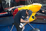 2016/06/04 Chiba, The Red Bull Air Race World Championship 2016 made it's 3rd stop in Chiba Japan.<br /> A Mechanic is adjusting the propeller.<br /> <br /> (Photos by Michael Steinebach/AFLO)