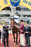 Jockey Joao Moreira riding House of Fun pose for photo after winning the Race 6 - Pacific Ocean Handicap on 07 May 2017, at the Sha Tin Racecourse  in Hong Kong, China. Photo by Chris Wong / Power Sport Images