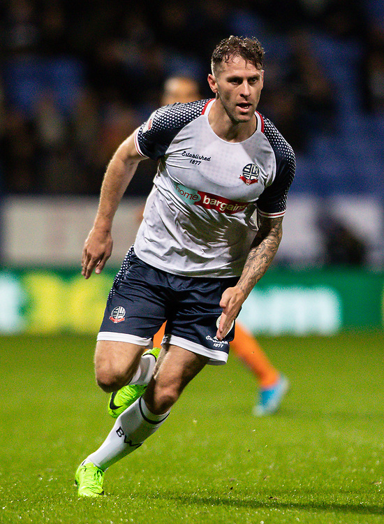 Bolton Wanderers' Daryl Murphy <br /> <br /> Photographer Andrew Kearns/CameraSport<br /> <br /> The EFL Sky Bet League One - Bolton Wanderers v Blackpool - Monday 7th October 2019 - University of Bolton Stadium - Bolton<br /> <br /> World Copyright © 2019 CameraSport. All rights reserved. 43 Linden Ave. Countesthorpe. Leicester. England. LE8 5PG - Tel: +44 (0) 116 277 4147 - admin@camerasport.com - www.camerasport.com