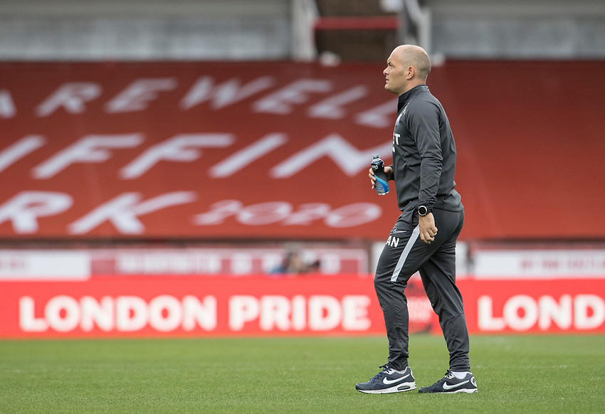 Preston North End's manager Alex Neil <br /> <br /> Photographer Andrew Kearns/CameraSport<br /> <br /> The EFL Sky Bet Championship - Brentford v Preston North End - Wednesday 15th July 2020 - Griffin Park - Brentford <br /> <br /> World Copyright © 2020 CameraSport. All rights reserved. 43 Linden Ave. Countesthorpe. Leicester. England. LE8 5PG - Tel: +44 (0) 116 277 4147 - admin@camerasport.com - www.camerasport.com