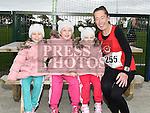 Aimee, Shauna and Georgia Rice coame to cheer on their mammy Pamela who took part in the Meath Coast 10K run. Photo:Colin Bell/pressphotos.ie