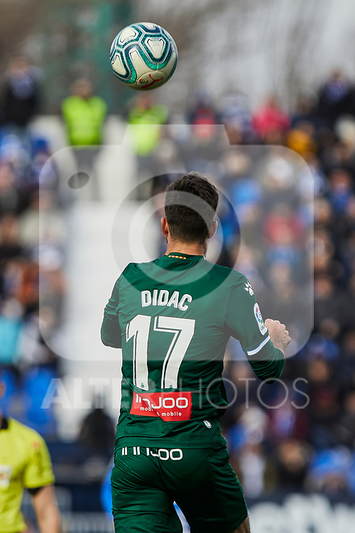 Dídac Vila of RCD Espanyol during La Liga match between CD Leganes and RCD Espanyol at Butarque Stadium in Leganes, Spain. December 22, 2019. (ALTERPHOTOS/A. Perez Meca)