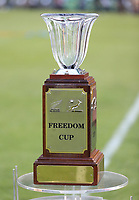 PRETORIA, SOUTH AFRICA - OCTOBER 06: The Freedom Cup on display during the Rugby Championship match between South Africa Springboks and New Zealand All Blacks at Loftus Versfeld Stadium. on October 6, 2018 in Pretoria, South Africa.  Photo: Steve Haag / stevehaagsports.com
