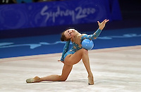 Sep 28, 2000; SYDNEY, AUSTRALIA:<br /> VALERIA VATCHINA of Belarus performs with ball during rhythmic gymnastics qualifying at 2000 Summer Olympics.