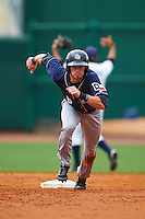 San Antonio Missions outfielder Travis Jankowski (6) running the bases during a game against the NW Arkansas Naturals on May 31, 2015 at Arvest Ballpark in Springdale, Arkansas.  NW Arkansas defeated San Antonio 3-1.  (Mike Janes/Four Seam Images)