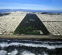 Aerial photo of San Francisco's Golden Gate Park in 1995.