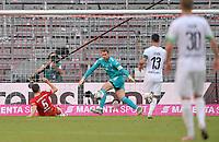 13th June 2020, Allianz Erena, Munich, Germany; Bundesliga football, Bayern Munich versus Borussia Moenchengladbach;   Benjamin Pavard (Bayern) redirects the ball past his goalkeeper Manuel Neuer (Bayern ) and scores and own goal for Borussia making it 1-1