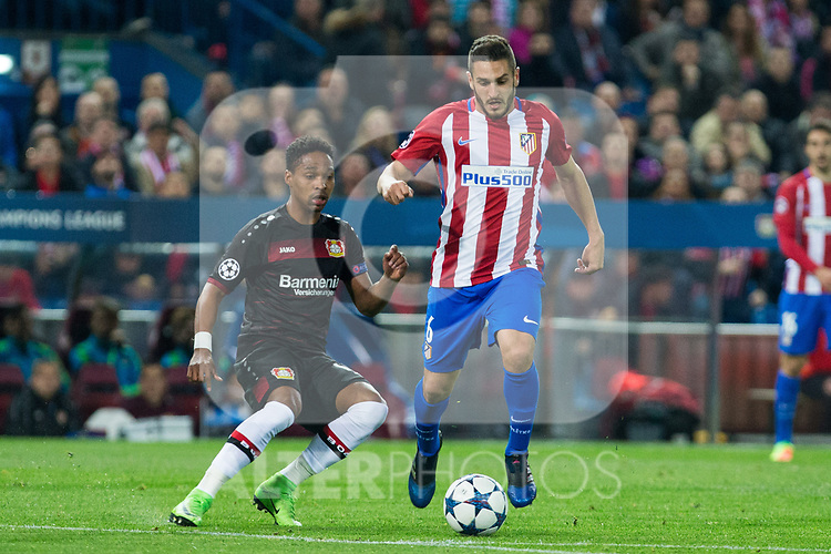 Koke Resurrecccion of Atletico de Madrid during the match of Uefa Champions League between Atletico de Madrid and Bayer Leverkusen at Vicente Calderon Stadium  in Madrid, Spain. March 15, 2017. (ALTERPHOTOS / Rodrigo Jimenez)