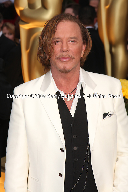 Mickey Rourke   arriving at the 81st Academy Awards at the Kodak Theater in Los Angeles, CA  on.February 22, 2009.©2009 Kathy Hutchins / Hutchins Photo...                .