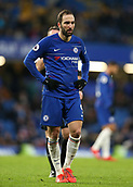 2nd February 2019, Stamford Bridge, London, England; EPL Premier League football, Chelsea versus Huddersfield Town; Gonzalo Higuain of Chelsea looking on
