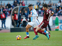 Lorenzo Insigne  during the  italian serie a soccer match,between SSC Napoli and Torino       at  the San  Paolo   stadium in Naples  Italy , December 18, 2016