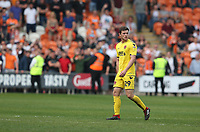 Fleetwood Town's Nathan Sheron walks off the pitch after being shown a red card by Referee Darren Bond for a tackle on Blackpool's Matty Virtue<br /> <br /> Photographer Stephen White/CameraSport<br /> <br /> The EFL Sky Bet League One - Blackpool v Fleetwood Town - Monday 22nd April 2019 - Bloomfield Road - Blackpool<br /> <br /> World Copyright © 2019 CameraSport. All rights reserved. 43 Linden Ave. Countesthorpe. Leicester. England. LE8 5PG - Tel: +44 (0) 116 277 4147 - admin@camerasport.com - www.camerasport.com<br /> <br /> Photographer Stephen White/CameraSport<br /> <br /> The EFL Sky Bet Championship - Preston North End v Ipswich Town - Friday 19th April 2019 - Deepdale Stadium - Preston<br /> <br /> World Copyright © 2019 CameraSport. All rights reserved. 43 Linden Ave. Countesthorpe. Leicester. England. LE8 5PG - Tel: +44 (0) 116 277 4147 - admin@camerasport.com - www.camerasport.com