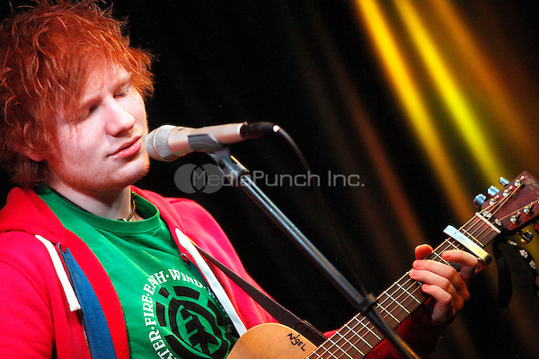 Ed Sheeran visits MIX 106.1 iHeart Performance Theater in Bala Cynwyd, Pa on April 10, 2012  © Star Shooter / MediaPunchInc