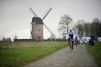 Fabian Cancellara (SUI/Trek-Segafredo) in sector 7: Templeuve (Moulin-de-Vertain)<br /> <br /> recon of the 114th Paris - Roubaix